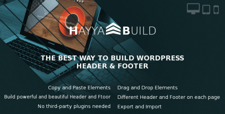 meilleurs plugins WordPress - Hayyabuild plugin wordpress pour footer
