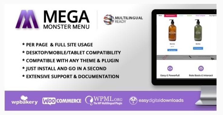 personnaliser votre pied de page - Mega menu monster wordpress