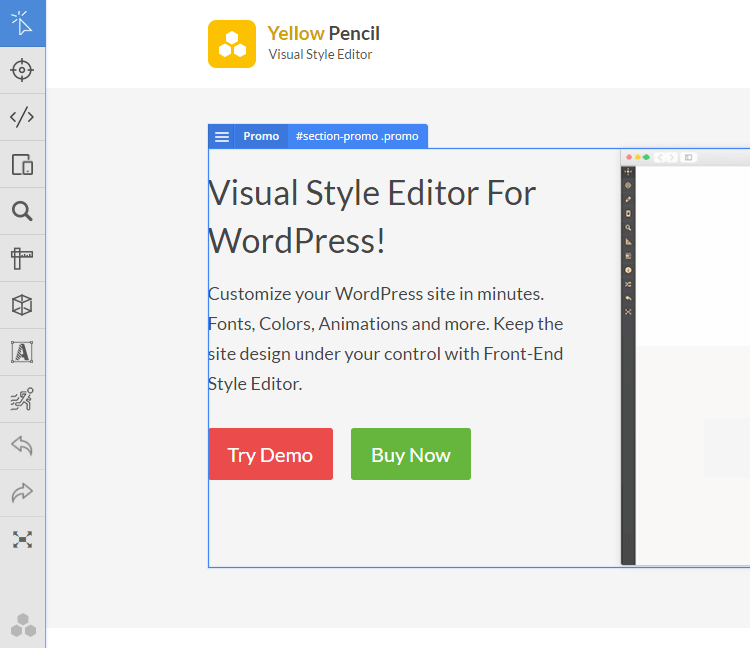 Outils disponible sur wordpress yellow pencil