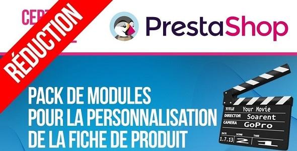 Pack modules for customising and extending product page plugin prestashop pour fiche produit
