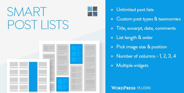 Smart post lists plugin wordpress pour auteur