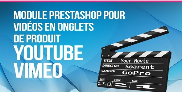 Videos youtube vimeo in product tab plugin prestashop pour fiche produit