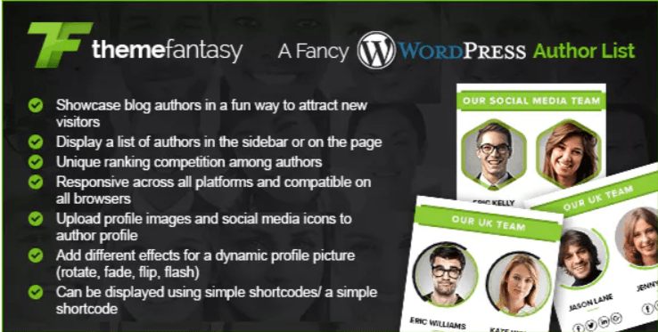 ajouter une section auteur - A fancy wordpress author list