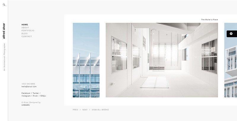 Alvar themes wordpress creer site web portfolio freelances photographes