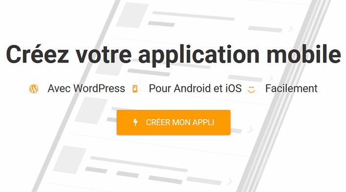 créer une app mobile pour votre site web - wpmobile app