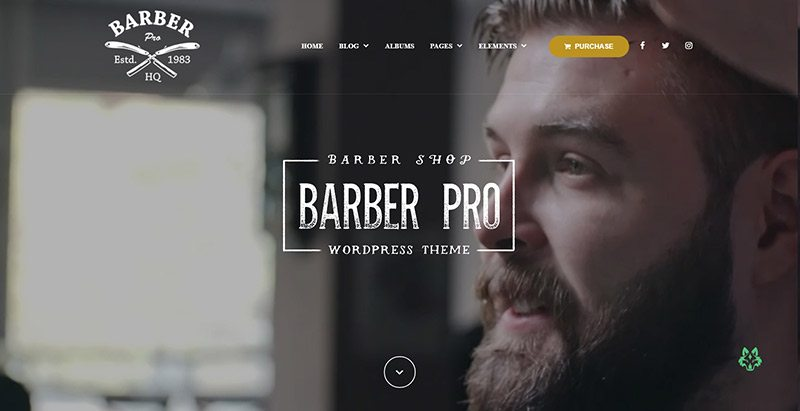 Barberpro themes wordpress creer site web salon coiffure beaute spa