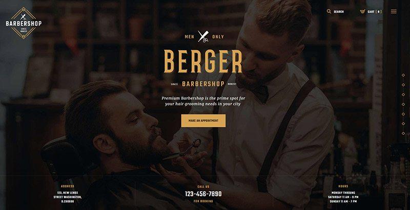 Berger themes wordpress creer site web salon tatouage