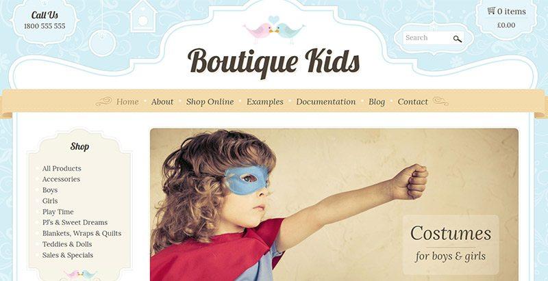 Tienda-Kids-temas-wordpress-crear Boutique línea niño-web-commerce ...