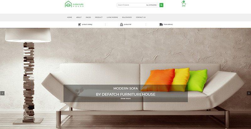 thèmes WordPress pour créer un site Web d'e-Commerce - Furniture