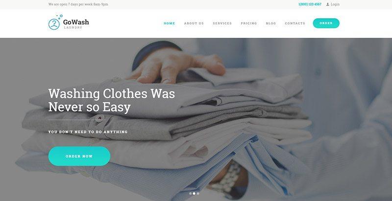 thèmes WordPress pour créer un site Web de blanchisseur - Gowash