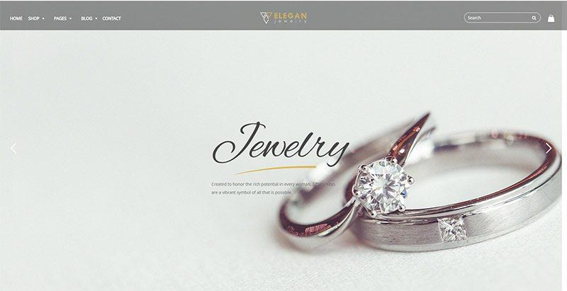 Jewelry themes wordpress creer site ecommerce vente bijoux