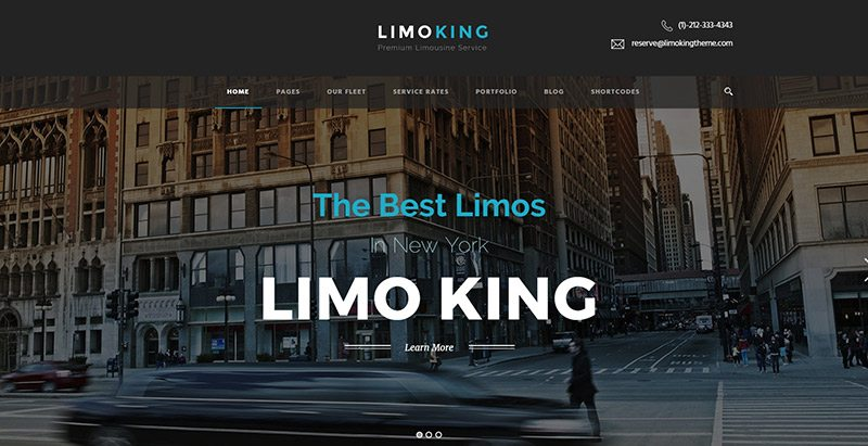 Limo king themes wordpress creer site web compagnie taxi transport