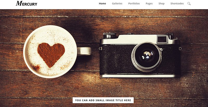 Mercury themes wordpress creer site web photographies studio photos