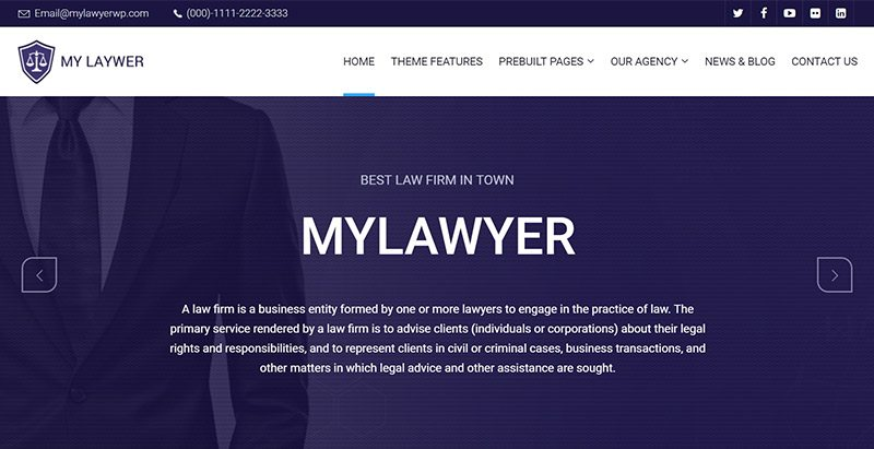 Temas de WordPress para crear un sitio web abogado | BlogPasCher