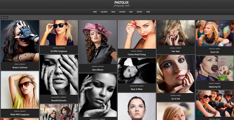Photolux Themen WordPress erstellen Portfolio-Website
