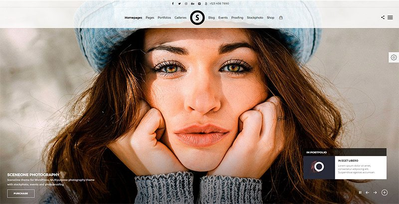 Sceneone themes wordpress creer site web photographe agence