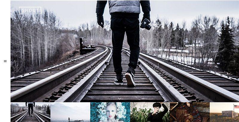 Shoot themes wordpress creer site web photographe agence