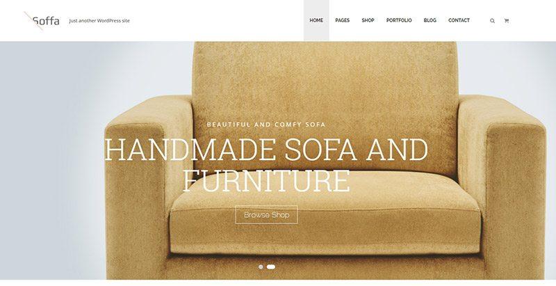 Soffa themes wordpress creer site vente de meubles ecommerce