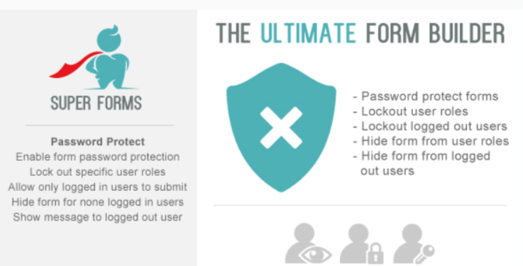 Super forms password protect user lockout hide add on