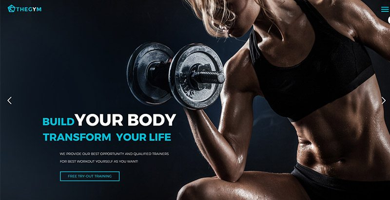Thegem themes wordpress creer site web club gym fitness arts martiaux