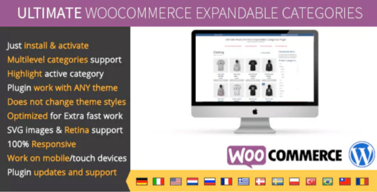 Ultimate woocommerce expandable categories