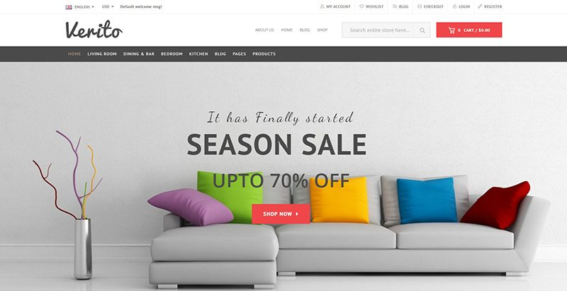 Verito Themes Wordpress Creer Site Vente De Meubles Ecommerce