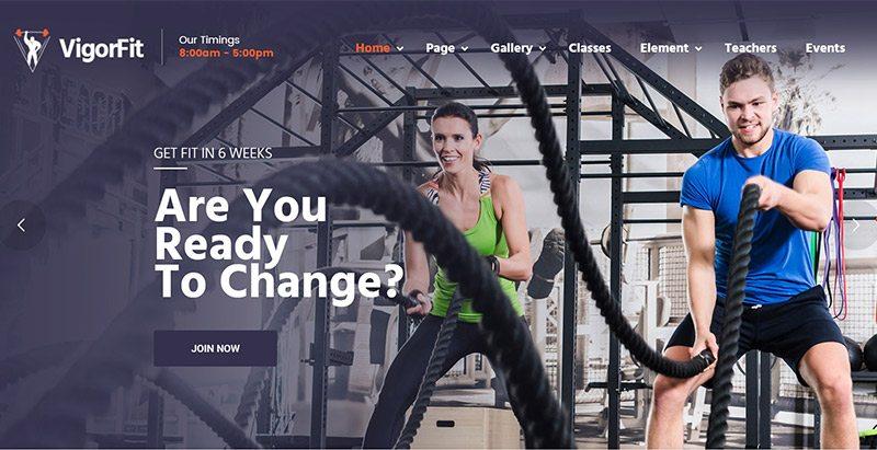 Vigor Temas Wordpress Criar Site Clube Ginásio Fitness Artes Marciais