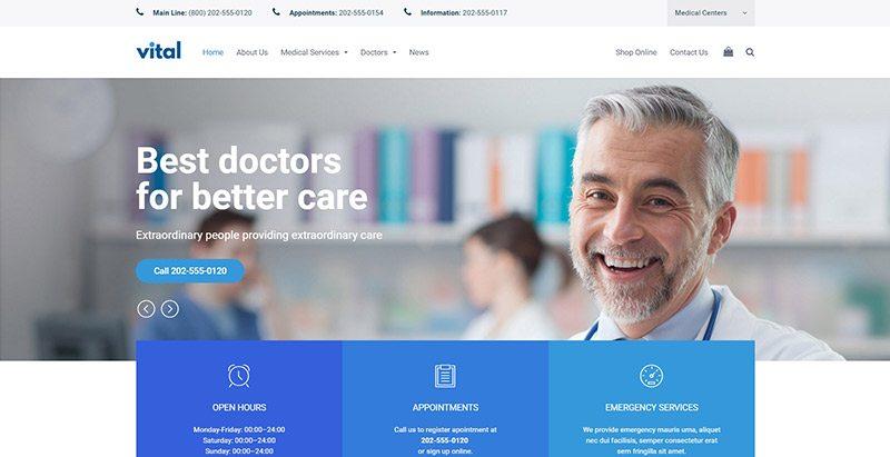 Temas de WordPress para crear un sitio web centro de salud | BlogPasCher
