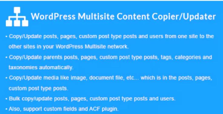 WordPress Multisite Content Copier Updater