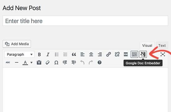 Incorporer le document Google Doc Embedder