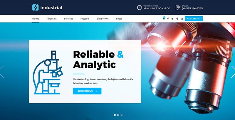 Industrial themes wordpress creer site web entreprise manufacturiere 2