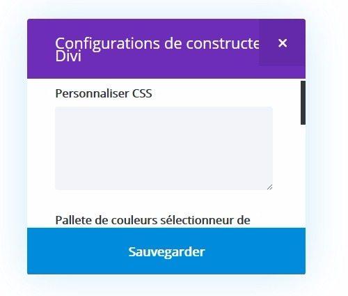comment modifier la couleur des menus entre les pages sur