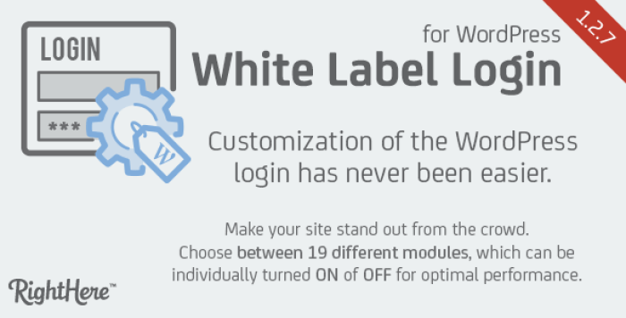 White label login plugin wordpress pour sécurité