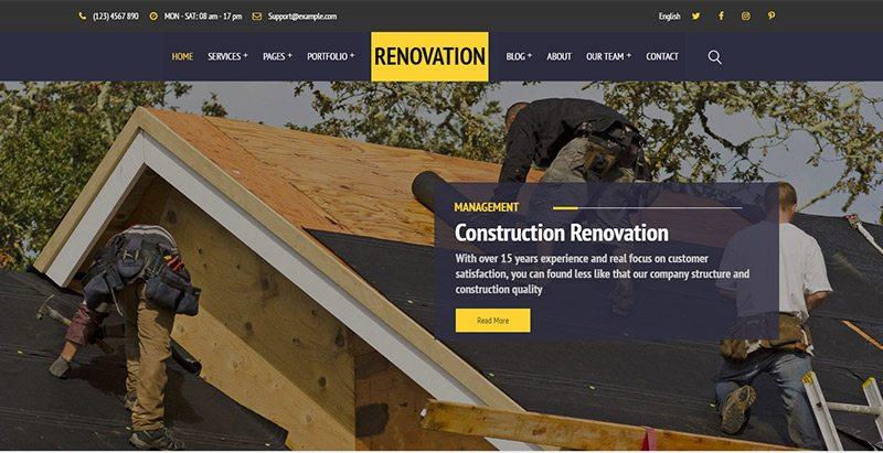 Construct themes wordpress creer site web renovation construction btp