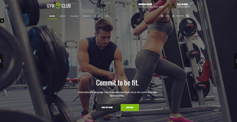 Fitness club themes wordpress creer site web club fitness gym