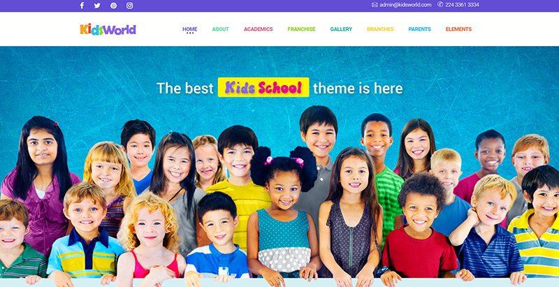 meilleurs thèmes WordPress -Kids world