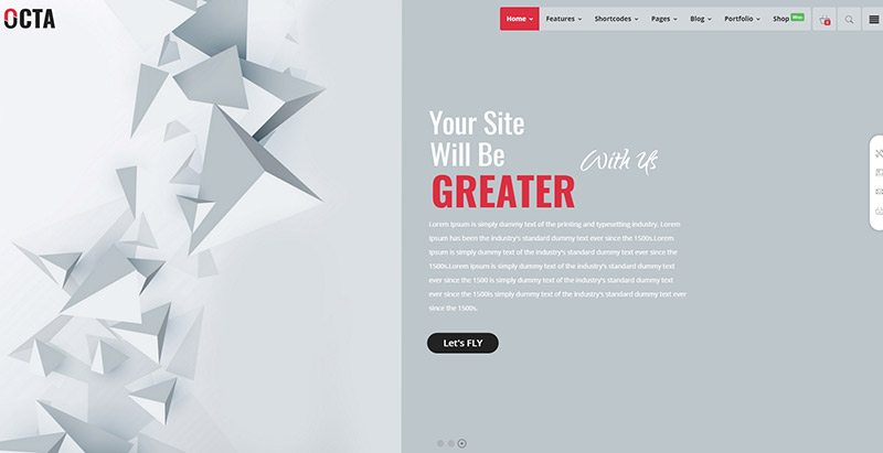 Octa themes wordpress creer site web freelancer freelance