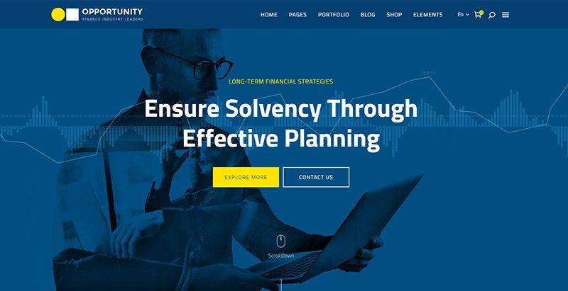 Temas de oportunidade wordpress criar website agência de negócios empresa