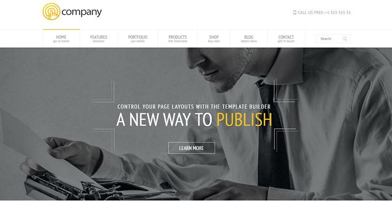 Temas de WordPress para crear su sitio web de negocios | BlogPasCher