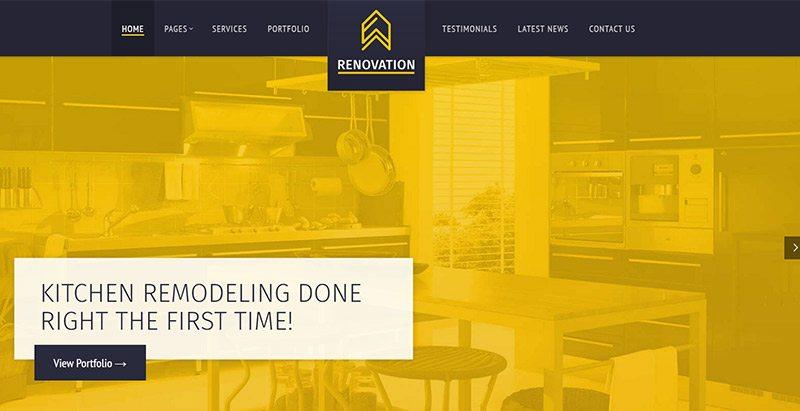Renovation themes wordpress creer site web renovation construction btp 1