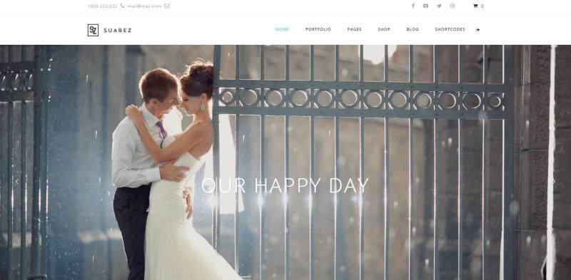 Suarez theme wordpress mariage