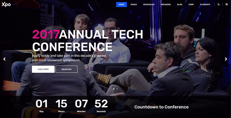 Xpo themes wordpress creer site web organisateur evenements seminaire conference