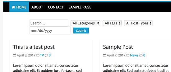 Comment permettre aux utilisateurs de filtrer les articles et les pages