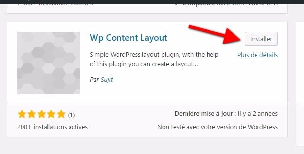 Wp content layout