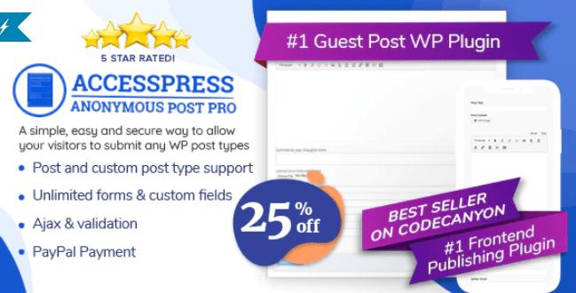 Accesspress anonymous post pro wordpress plugin
