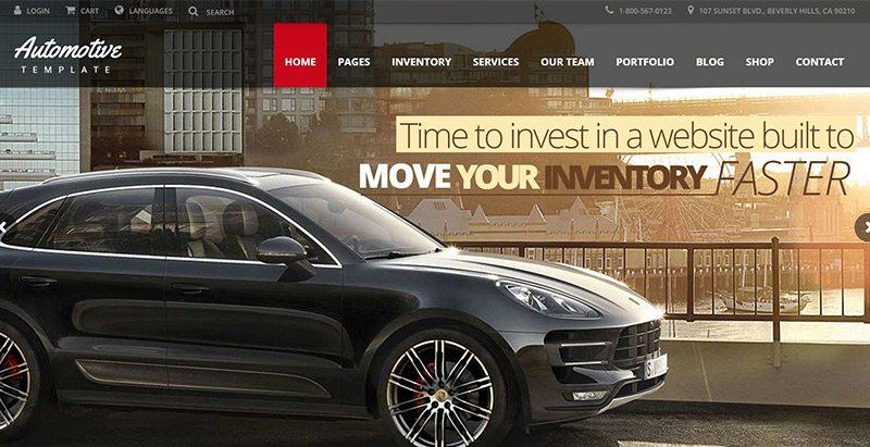 Automotive themes wordpress creer site web concessionnaire voitures mecanicien vente achat vehicules