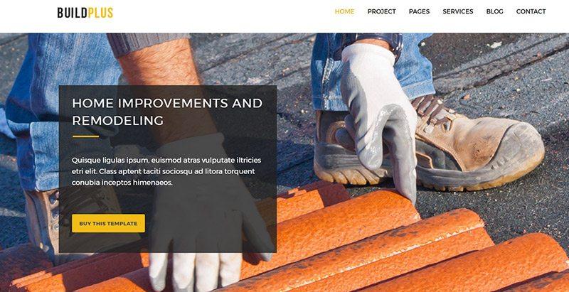 Buildplus themes wordpress creer site web entreprise renovation construction reparation