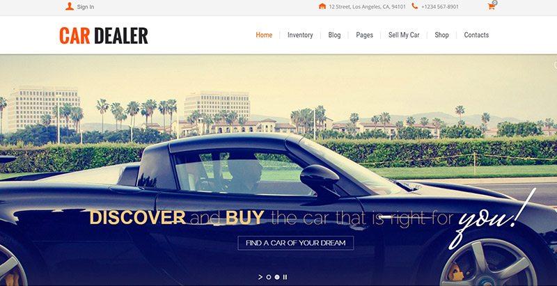 Cardealer themes wordpress creer site web concessionnaire voitures mecanicien vente achat vehicules