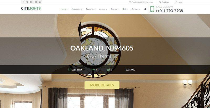Citilights themes wordpress creer site web vente appartement villa maison