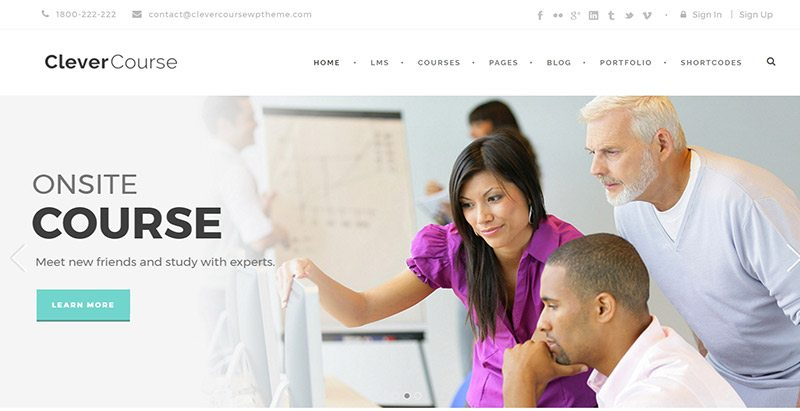 Умные темы курсов wordpress создать веб-сайт электронное обучение обучение университет школа колледж